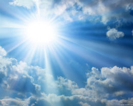 luce in cielo